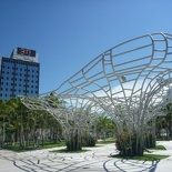 The park by the New World Symphony building
