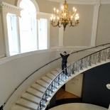 The museum's grand staircase