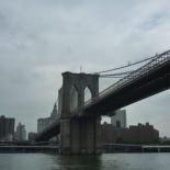 Crossing under the Brooklyn bridge
