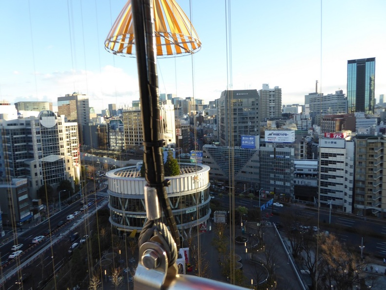 Tokyo city from the parachute drop tower
