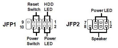 Power pin JFP1 and JFP2