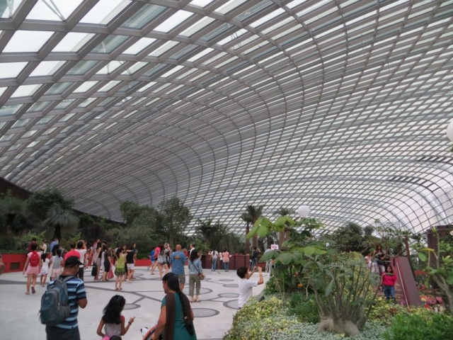 inside the flower dome - Garden By The Bay Entrance Fee