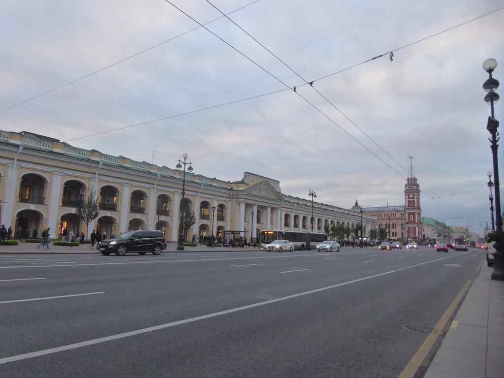 Gostinyy Mall shops along Nevsky Avenue