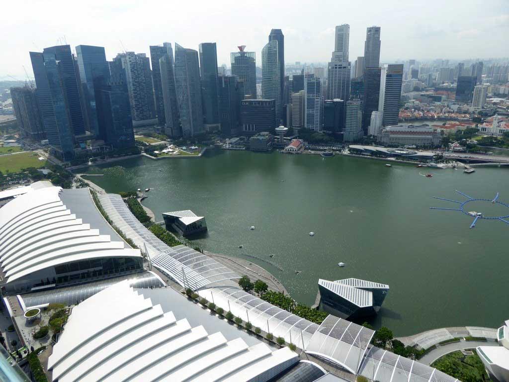 Marina Bay Sands Skypark Day And Night Panorama Views