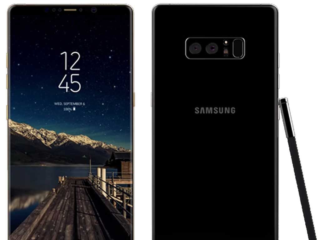 Samsung Note 8 rear dual-camera setup