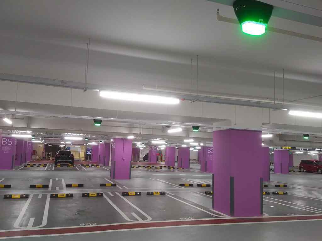 The Jewel Carpark with the status LEDs