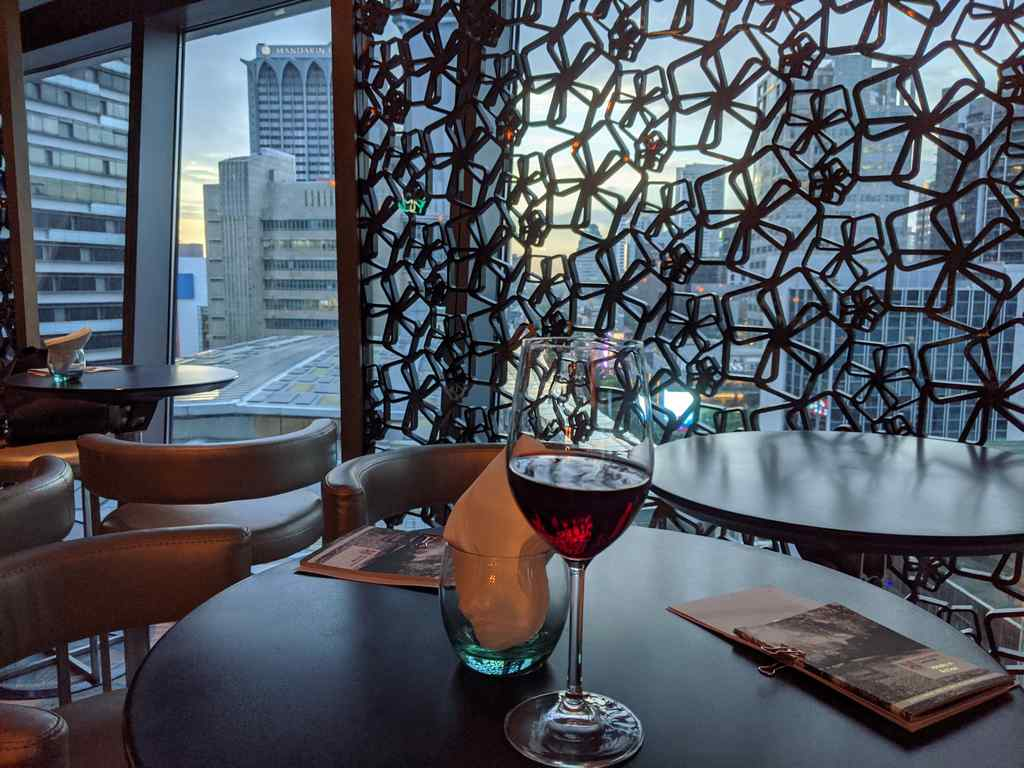 Wine and the cityscape