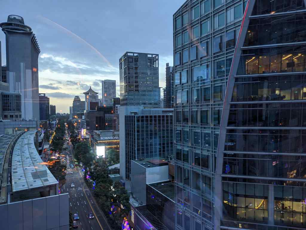 View of Orchard road from the lounge