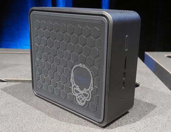 Say hi to Intel's new Compute element. It is like an oversized NUC unit, which accepts a full-sized GPU