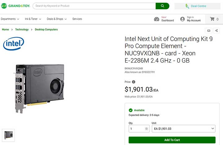 Yes, it is expensive, another retailer from Canada here. with price in CAD$.