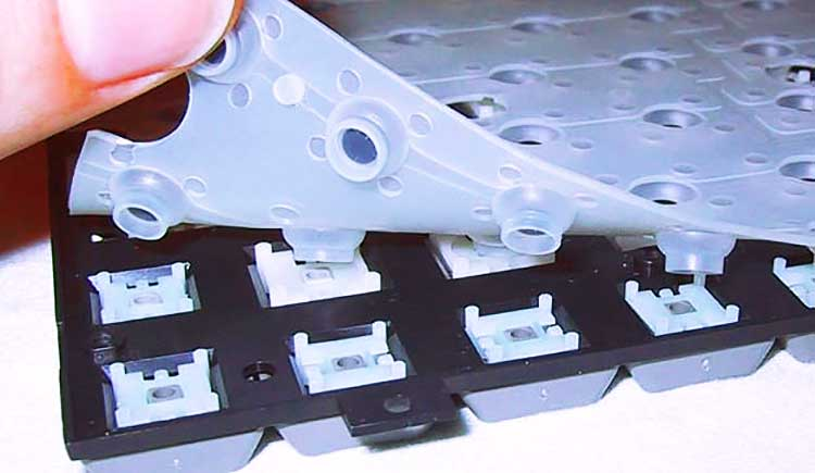 Rubber dome membrane keys are most modern, mass produced variant and found on low to mid-range keyboards