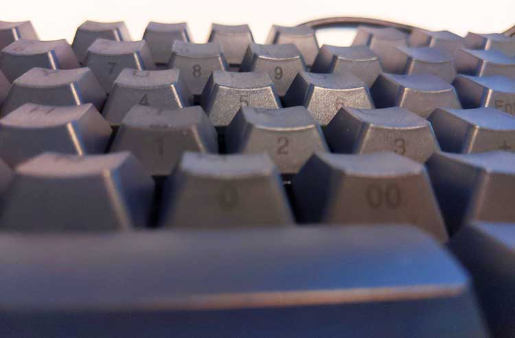 The letter keys have an alternate function as an integrated numpad pad when the Numlock key is activated on the keyboard