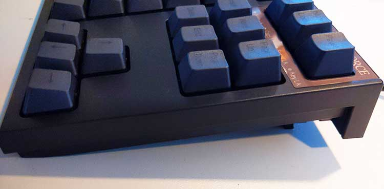 Realforce TKL capacitive keyboard is solid with adjustable heights.