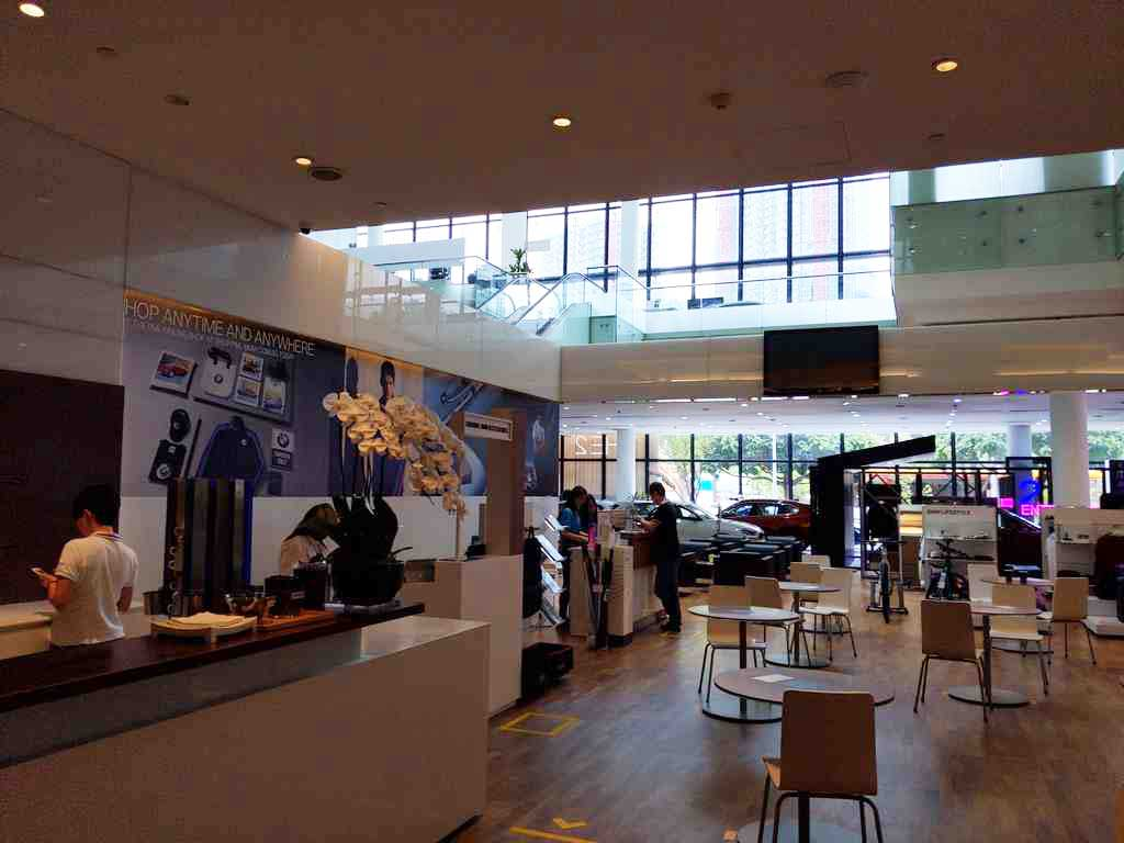 BMW Performance Motors Limited showroom cafe and lifestyle store on the showroom ground floor