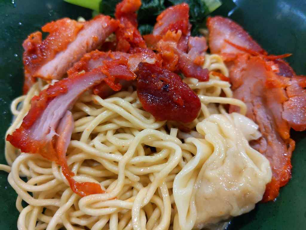 Eng Wantan noodles Mee Dry Wanton noodles ($3.50), served with char siew. The noodles are spingy