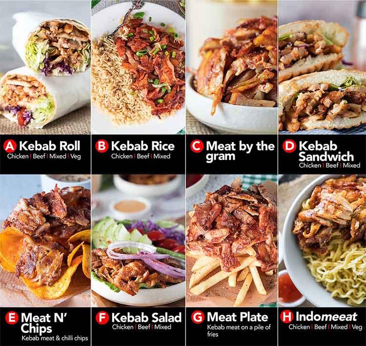 Epikebabs simple menu selection