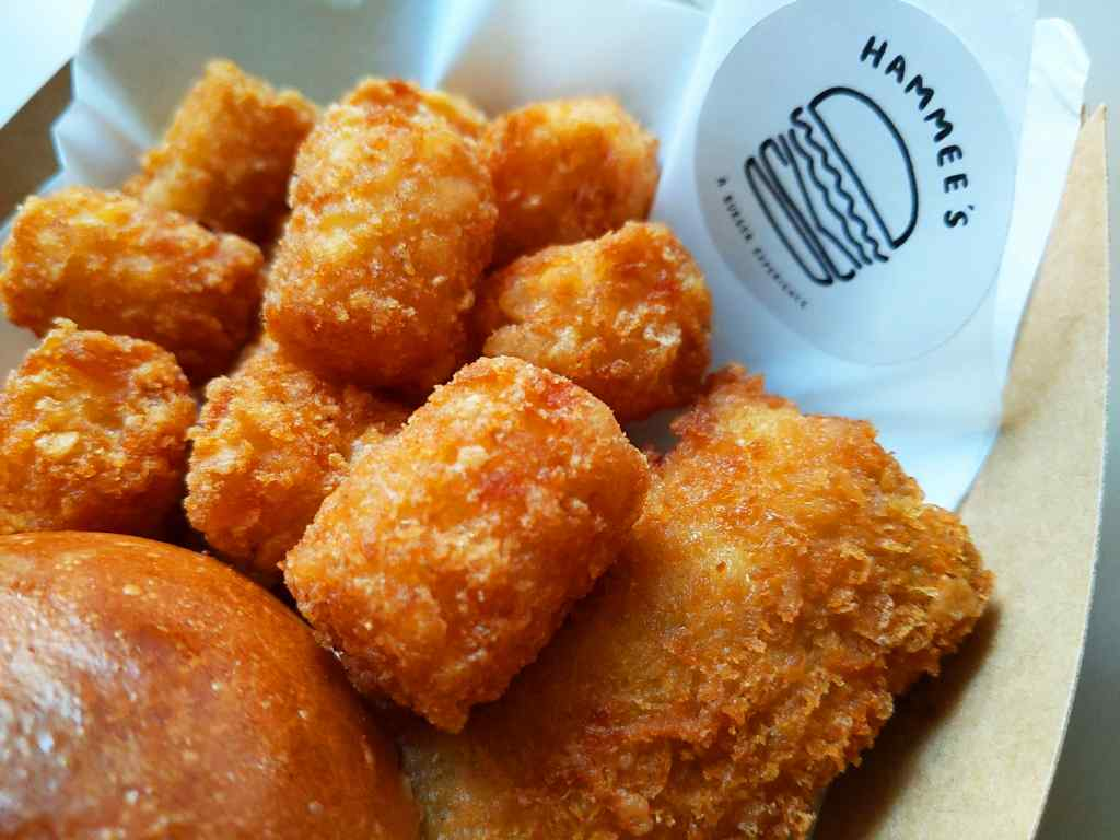You can opt for tatter tots (hash browns) from your regular fries for a dollar more