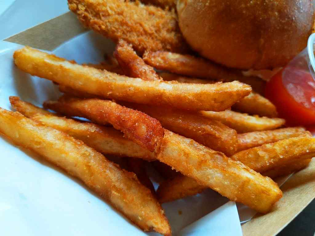 Regular fries, which goes well with paired sauce