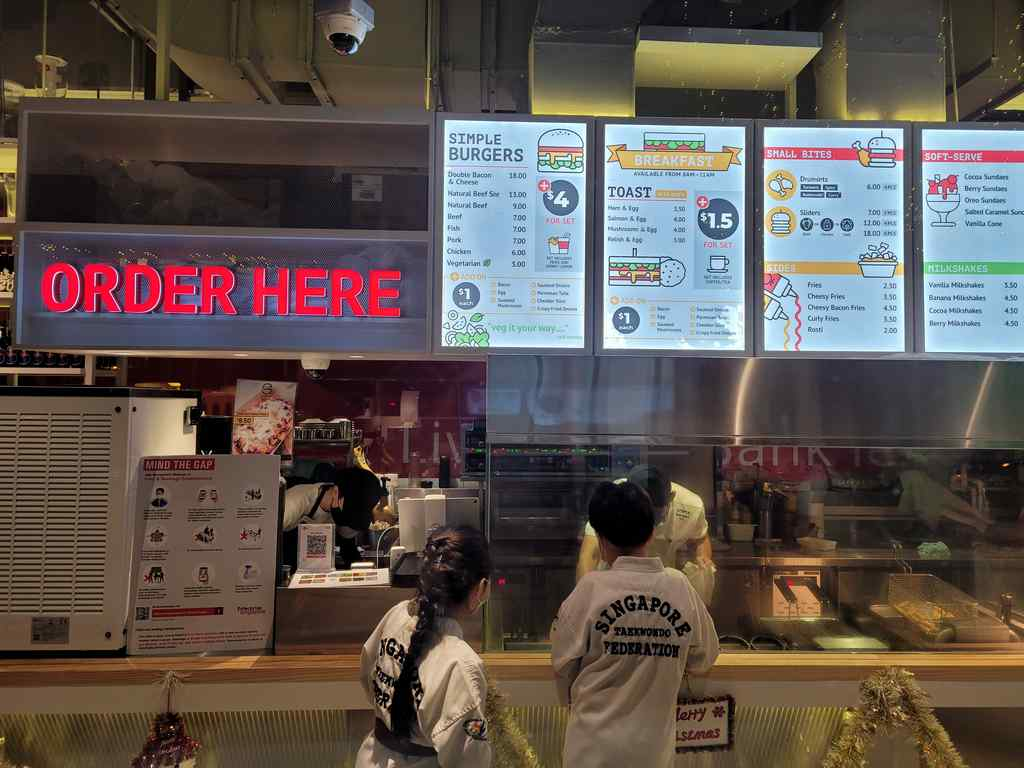 Simple Burgers ordering counter