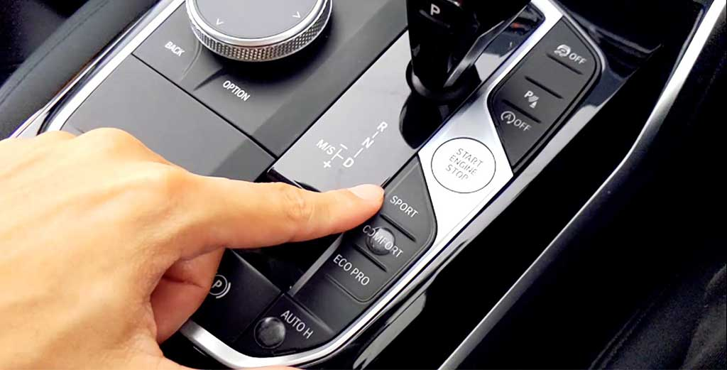 BMW 3-Series 5 enhancements adding touch bumps to your drive controls allows you to toggle them while keeping your eyes on the road when driving