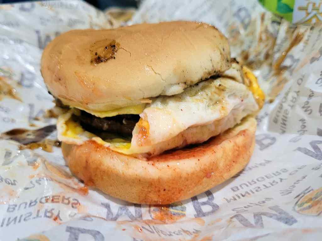 Double beef Burger $6.90