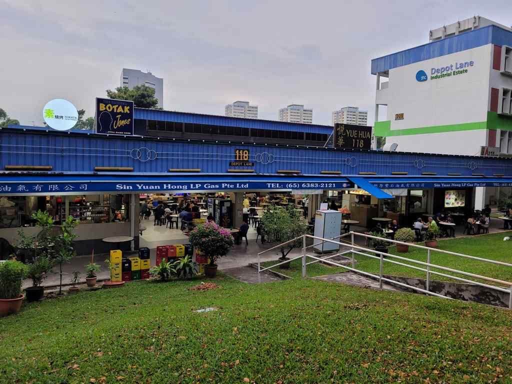 Yue Hua 118 eating house along Depot Road