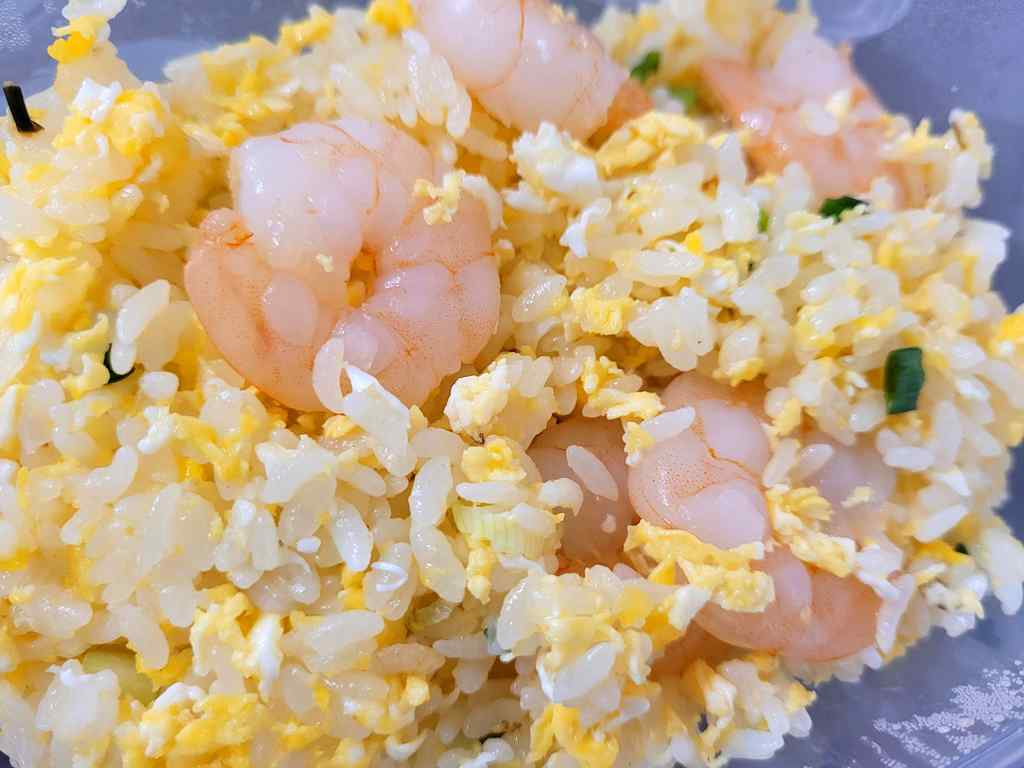 Chef Wang Fried rice with Shrimp ($6.50)
